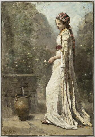Jeune fille grecque à la fontaine.