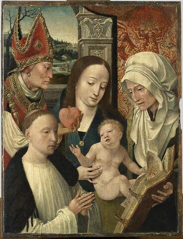 Vierge à l'Enfant avec sainte Anne, saint Augustin et un orant