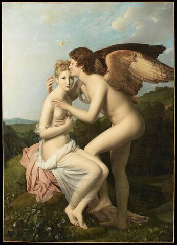 Psyché et l'Amour, dit aussi Psyché recevant le premier baiser de l'Amour.