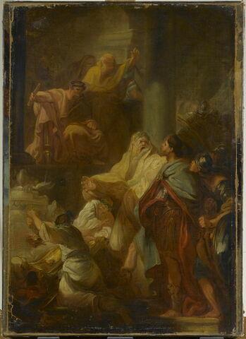 Saint Victor renversant les idoles.