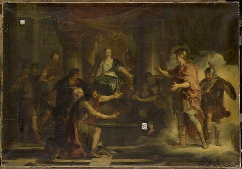 Énée,débarqué à Carthage,se présente devant Didon.
