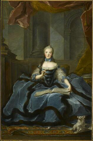Madame Adélaïde (1732-1799) tenant un livre de musique