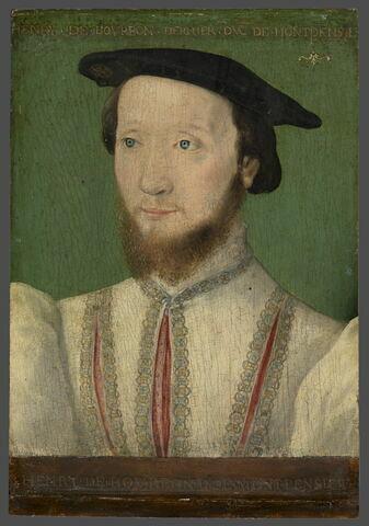 Portrait présumé de Louis de Bourbon, duc de Montpensier (1513-1582), dit autrefois: Henry de Bourbon, duc de Montpensier.