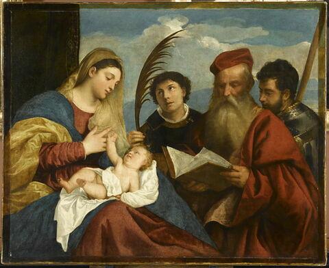 La Vierge à l' Enfant avec saint Étienne, saint Jérôme et saint Maurice