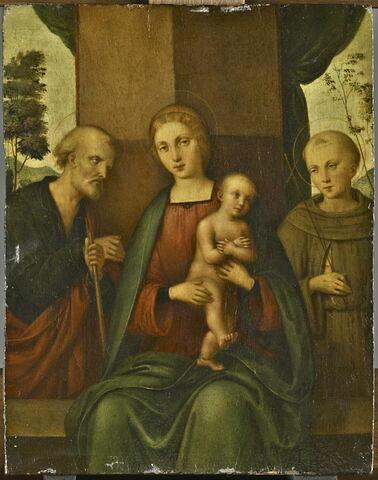 La Vierge et l'Enfant entre saint Joseph et saint François (?)