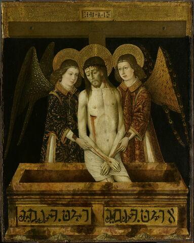 Le Christ mort entre deux anges