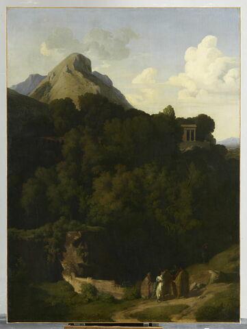Paysage; les adieux d'un proscit à sa famille, ou Montagnes de la Sabine.