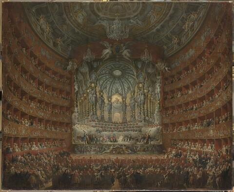 Fête musicale donnée par le cardinal de La Rochefoucauld au théâtre Argentina à Rome, le 15 juillet 1747, à l'occasion du mariage du Dauphin, fils de Louis XV, avec Marie-Josèphe de Saxe