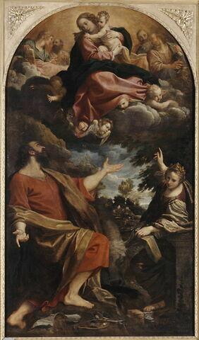 L'Apparition de la Vierge à saint Luc et à sainte Catherine