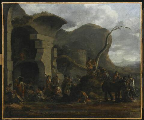 Voyageurs sous des ruines