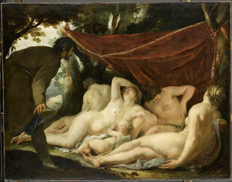 Vénus et les Grâces surprises par un mortel