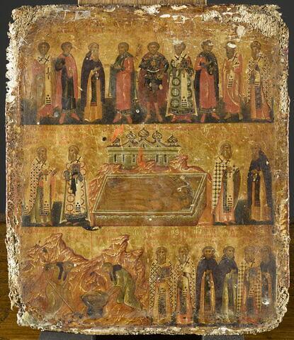Icône-ménologe : les saints et les fêtes du mois de février