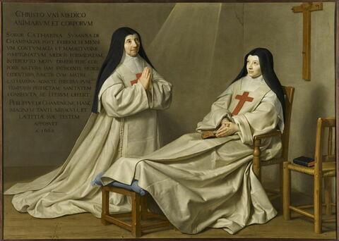 La mère Catherine-Agnès Arnauld (1593-1671) et la soeur Catherine de Sainte Suzanne Champaigne (1636-1686), fille de l'artiste