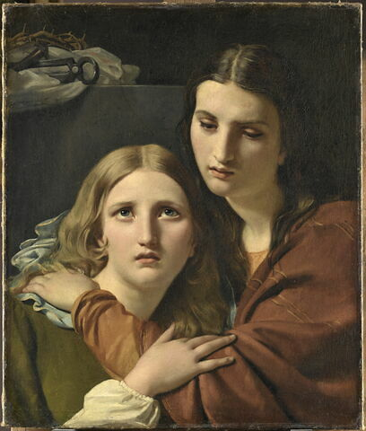 Saintes Femmes méditant auprès des instruments de la Passion