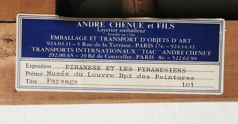 dos, verso, revers, arrière ; détail étiquette ; cadre © 2017 Musée du Louvre / Peintures
