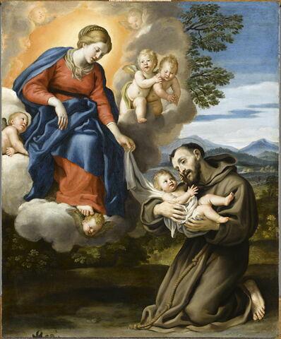 La Vierge à l'Enfant avec saint François (ou saint Antoine de Padoue)