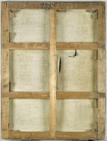 dos, verso, revers, arrière ; vue d'ensemble ; vue sans cadre © 2019 RMN-Grand Palais (musée du Louvre) / Franck Raux