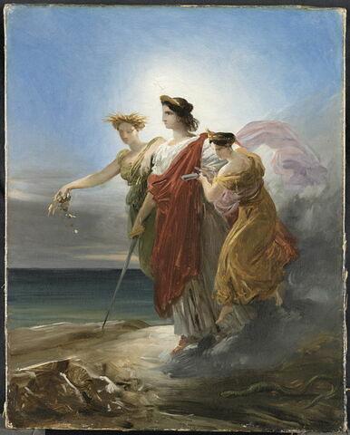 La Justice ramenant l'Abondance et l'Industrie sur la Terre (esquisse pour le décor du Conseil d'Etat au Louvre)