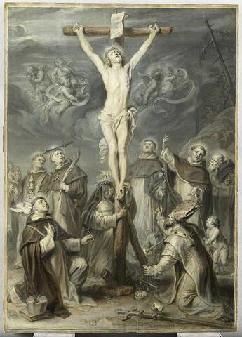Le Christ en croix adoré par divers saints dominicains
