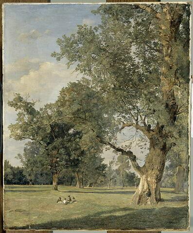 Vue du Prater à Vienne, avec arbre à droite