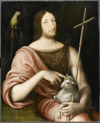 Portrait de François 1er en saint Jean Baptiste