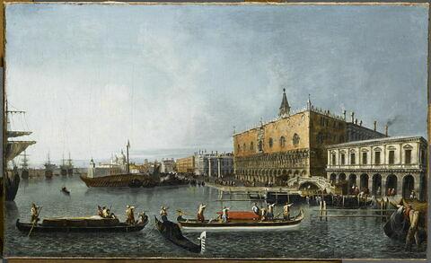 Le palais ducal et le môle à Venise