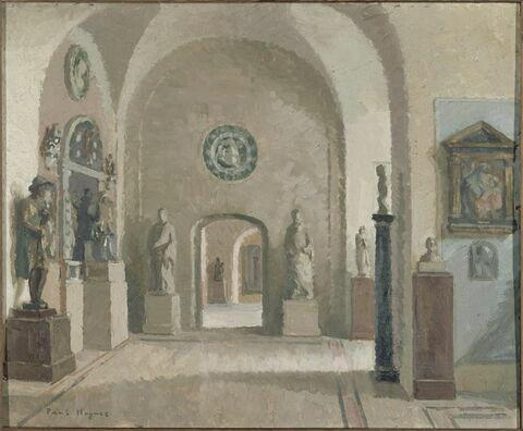 La galerie haute des sculptures italiennes du musée du Louvre