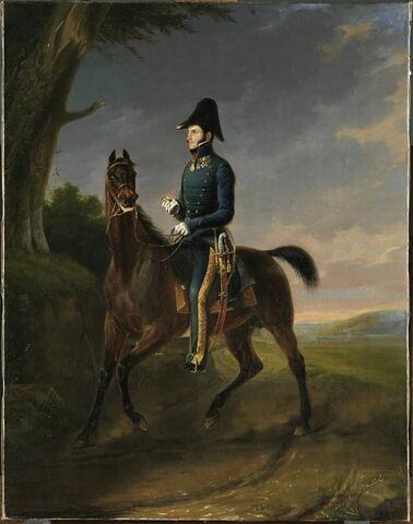 Portrait équestre de Léopold 1er roi des Belges