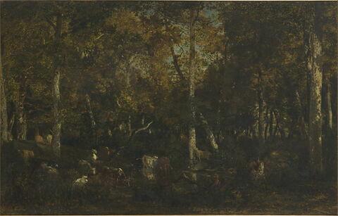 Intérieur de forêt, dit Le Vieux Dormoir du Bas-Bréau (forêt de Fontainebleau)