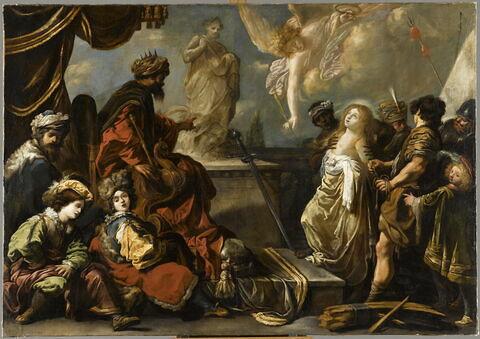 Sainte Catherine refusant d'adorer les idoles