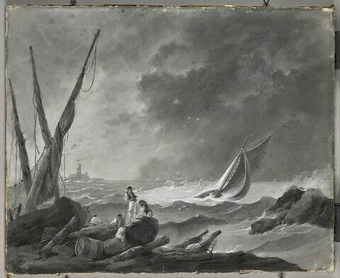 Bateaux sur une mer agitée, dit autrefois Mer agitée