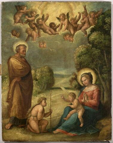 La Sainte Famille avec le petit saint Jean Baptiste