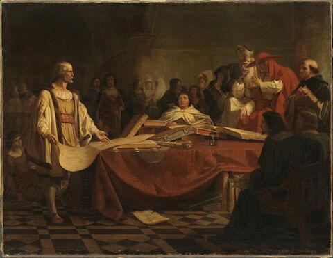 Christophe Colomb devant le conseil de Salamanque