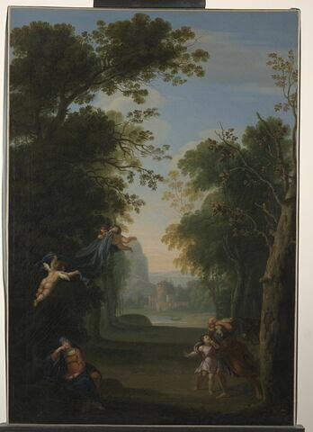 Paysage avec le Repos de la Sainte Famille pendant la Fuite en Egypte