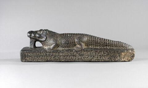 statue ; ex-voto ; Statue du crocodile Petesouchos