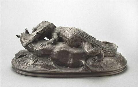 Crocodile dévorant une antilope