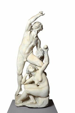 Adam et Eve avec le serpent à tête de femme