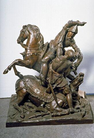 Combat de Charles Martel et d'Abderamane roi des Sarrazins (Bataille de Poitiers 732)