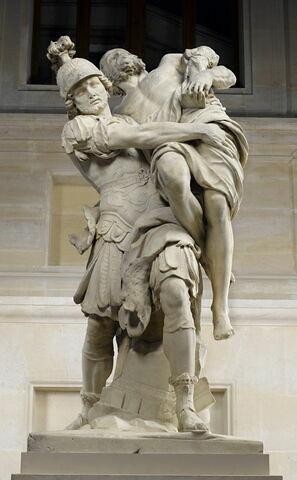 Énée portant son père Anchise, suivi d'Ascagne