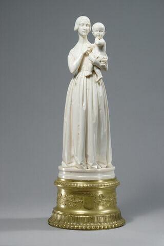 Madame Delaroche et son fils Horace (1836-1879) fille du peintre Vernet épouse du peintre Delaroche