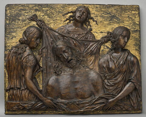 Le Christ mort pleuré par les trois vertus théologales