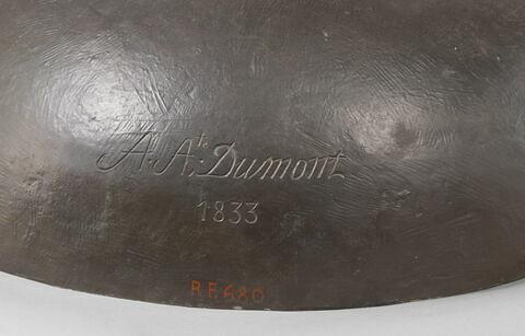 détail signature © 2019 Musée du Louvre / Thierry Ollivier