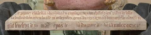 dos, verso, revers, arrière ; détail inscription © 2018 Musée du Louvre / Hervé Lewandowski
