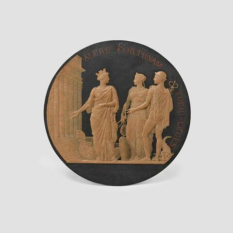 Médaille commémorant l'achèvement du Palais de la Bourse et du tribunal de commerce 4 novembre 1826