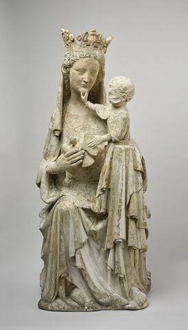 La Vierge assise tenant l'Enfant debout sur son genou