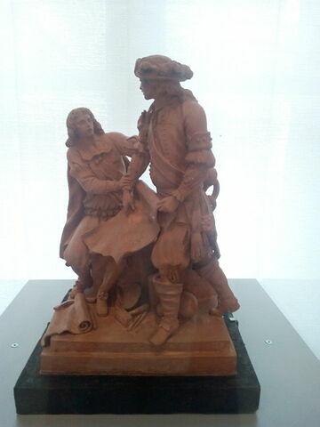 Colbert et Duquesne, maquette pour le monument de la place du Peyrou