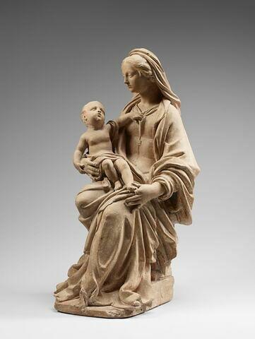 Vierge assise portant l'Enfant sur le bras droit