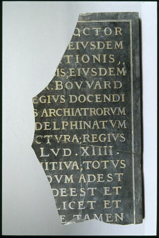 Fragment d'épitaphe latine