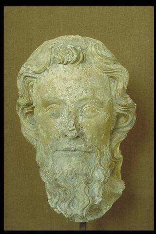 Tête d'apôtre barbu
