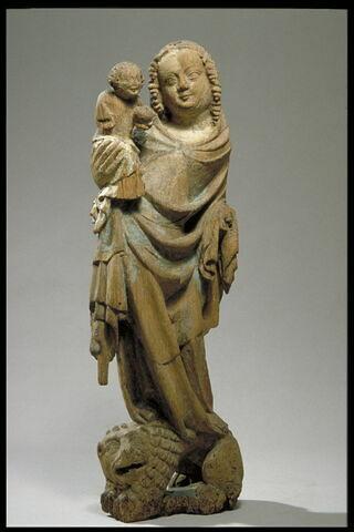 La Vierge à l'Enfant debout sur un lion